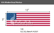 USA Window Decals 3x10 inch