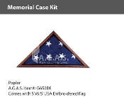 Poplar Memorial Case Kits for 5x9.5 foot flags