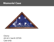 Cherry Memorial Cases for 5x9.5 foot flags