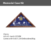 Cherry Memorial Case Kits for 5x9.5 foot flags
