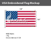 USA Embroidered Flags 10x19 inch (Official Size)
