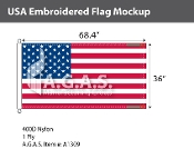 USA Embroidered Flags 36x68.4 inch (Official Size)