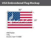 USA Embroidered Flags 20x30 inch