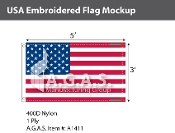USA Embroidered Flags 3x5 foot