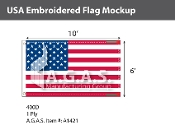 USA Embroidered Flags 6x10 foot