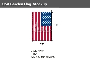 USA Garden Flags 12x18 inch
