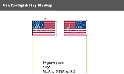 USA Toothpick Flags 4 inch (by box - 100 per box)