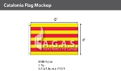Catalonia Flags 4x6 foot