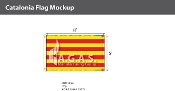 Catalonia Flags 5x8 foot
