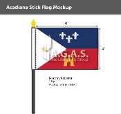 Acadiana Stick Flags 4x6 inch