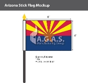 Arizona Stick Flags 4x6 inch