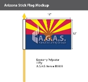 Arizona Stick Flags 12x18 inch