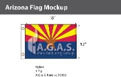 Arizona Flags 12x18 inch