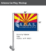 Arizona Car Flags 12x16 inch