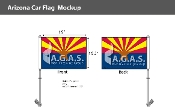 Arizona Car Flags 10.5x15 inch