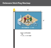 Delaware Stick Flags 4x6 inch