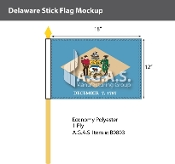 Delaware Stick Flags 12x18 inch