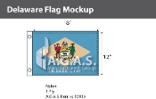 Delaware Flags 12x18 inch