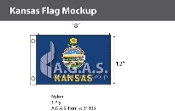 Kansas Flags 12x18 inch