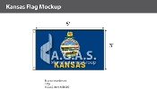 Kansas Flags 3x5 foot