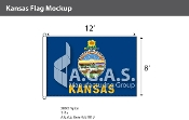 Kansas Flags 8x12 foot