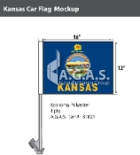 Kansas Car Flags 12x16 inch