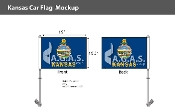 Kansas Car Flags 10.5x15 inch
