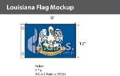 Louisiana Flags 12x18 inch