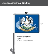 Louisiana Car Flags 12x16 inch