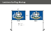 Louisiana Car Flags 10.5x15 inch