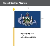 Maine Stick Flags 12x18 inch
