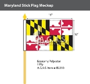 Maryland Stick Flags 12x18 inch