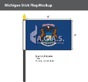 Michigan Stick Flags 4x6 inch