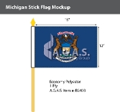 Michigan Stick Flags 12x18 inch