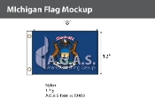 Michigan Flags 12x18 inch