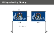 Michigan Car Flags 10.5x15 inch