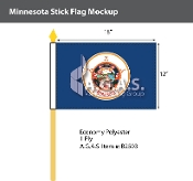 Minnesota Stick Flags 12x18 inch