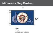 Minnesota Flags 12x18 inch