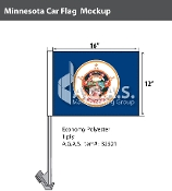 Minnesota Car Flags 12x16 inch