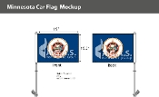 Minnesota Car Flags 10.5x15 inch