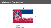 Mississippi Flags 4x6 foot