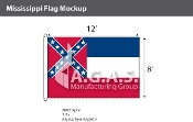 Mississippi Flags 8x12 foot