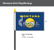 Montana Stick Flags 4x6 inch