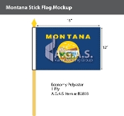 Montana Stick Flags 12x18 inch