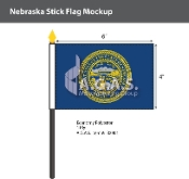 Nebraska Stick Flags 4x6 inch