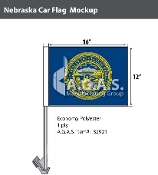 Nebraska Car Flags 12x16 inch
