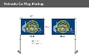 Nebraska Car Flags 10.5x15 inch