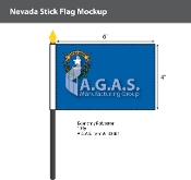 Nevada Stick Flags 4x6 inch