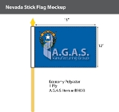 Nevada Stick Flags 12x18 inch