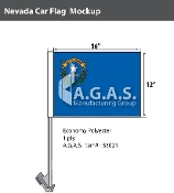 Nevada Car Flags 12x16 inch